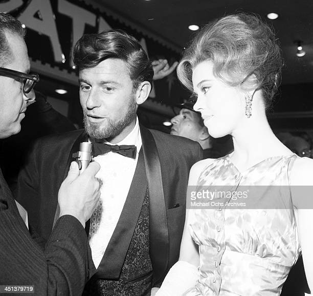 Actress Jane Fonda and Roddy McDowall attend a party in Los Angeles California