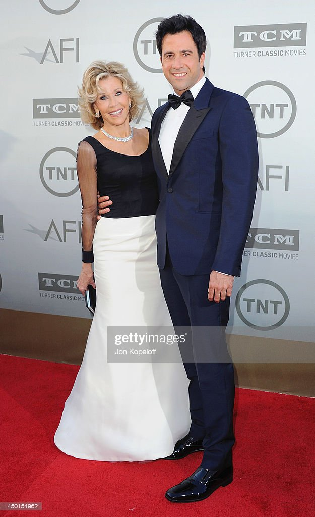 Actress Jane Fonda and son Troy Garity arrive at the 2014 AFI Life Achievement Award Gala Tribute at Dolby Theatre on June 5, 2014 in Hollywood, California.