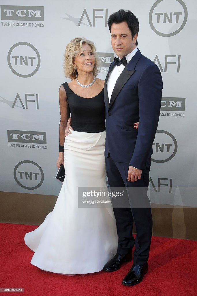 Actress <a gi-track='captionPersonalityLinkClicked' href=/galleries/search?phrase=Jane+Fonda&family=editorial&specificpeople=202174 ng-click='$event.stopPropagation()'>Jane Fonda</a> and son <a gi-track='captionPersonalityLinkClicked' href=/galleries/search?phrase=Troy+Garity&family=editorial&specificpeople=549591 ng-click='$event.stopPropagation()'>Troy Garity</a> arrive at the 2014 AFI Life Achievement Award Gala Tribute at Dolby Theatre on June 5, 2014 in Hollywood, California.