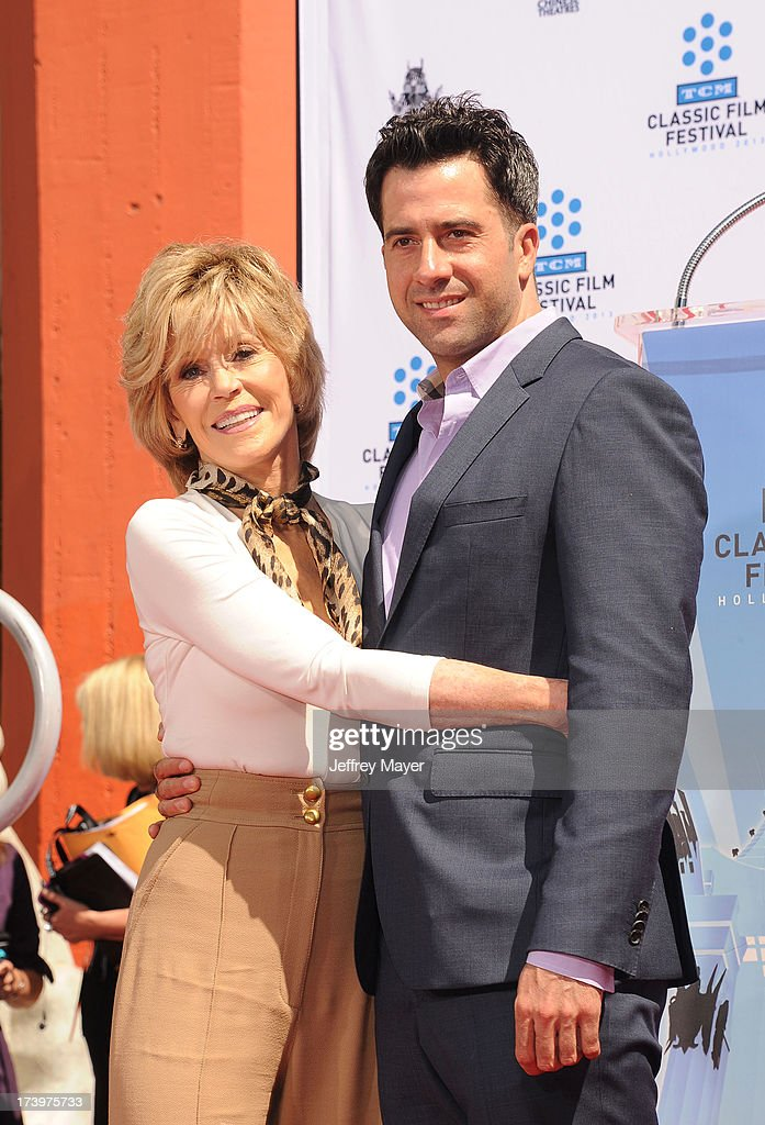 Actress Jane Fonda and son Troy Garity attend actress Jane Fonda's Handprint/Footprint Ceremony during the 2013 TCM Classic Film Festival at TCL Chinese Theatre on April 27, 2013 in Los Angeles, California.
