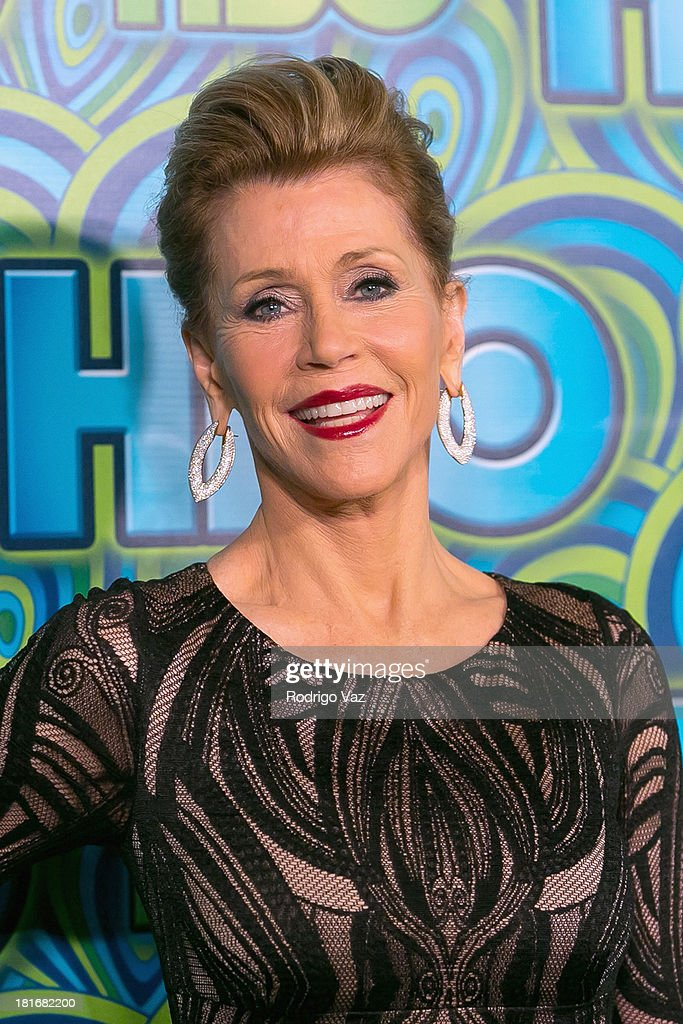 Actress <a gi-track='captionPersonalityLinkClicked' href=/galleries/search?phrase=Jane+Fonda&family=editorial&specificpeople=202174 ng-click='$event.stopPropagation()'>Jane Fonda</a> arrives at HBO's Annual Primetime Emmy Awards Post Award Reception at The Plaza at the Pacific Design Center on September 22, 2013 in Los Angeles, California.