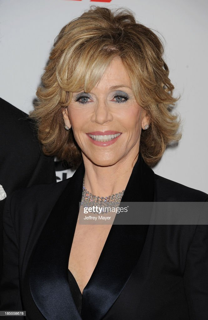Actress Jane Fonda arrives at the 17th Annual Hollywood Film Awards at The Beverly Hilton Hotel on October 21, 2013 in Beverly Hills, California.