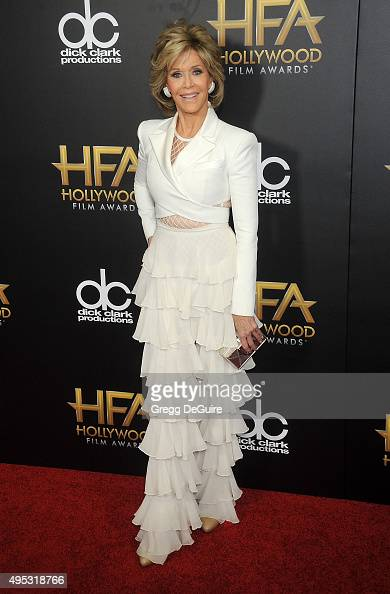 Actress Jane Fonda arrives at the 19th Annual Hollywood Film Awards at The Beverly Hilton Hotel on November 1 2015 in Beverly Hills California