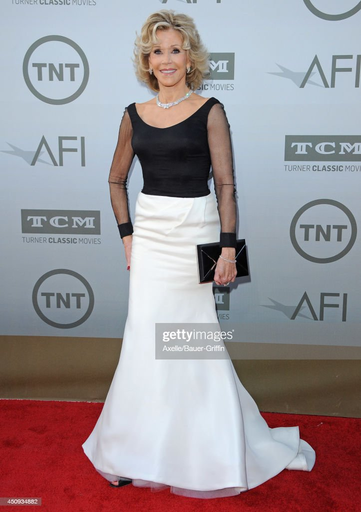 Actress <a gi-track='captionPersonalityLinkClicked' href=/galleries/search?phrase=Jane+Fonda&family=editorial&specificpeople=202174 ng-click='$event.stopPropagation()'>Jane Fonda</a> arrives at the 2014 AFI Life Achievement Award Gala Tribute at Dolby Theatre on June 5, 2014 in Hollywood, California.