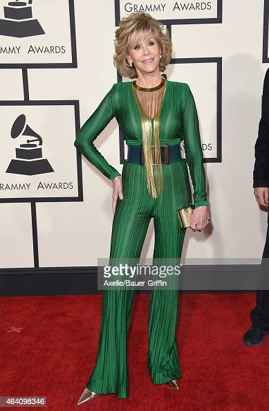 Actress Jane Fonda arrives at the 57th Annual GRAMMY Awards at Staples Center on February 8 2015 in Los Angeles California