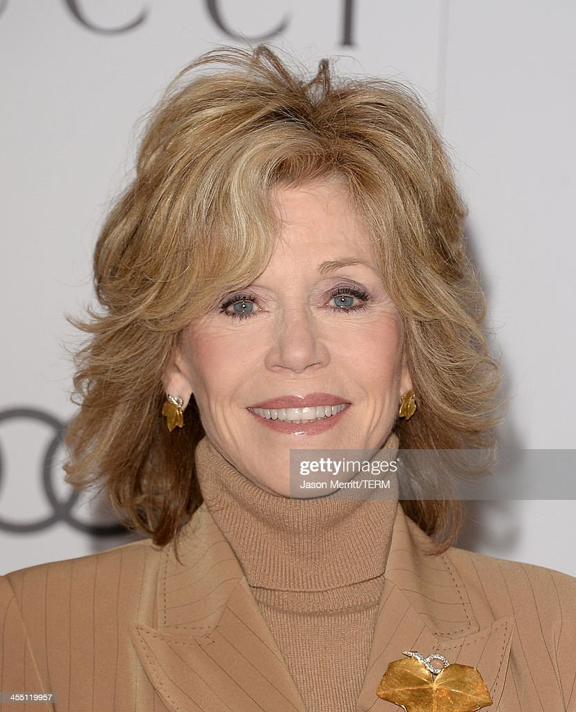 Actress Jane Fonda arrives at The Hollywood Reporter's 22nd Annual Women In Entertainment Breakfast at Beverly Hills Hotel on December 11, 2013 in Beverly Hills, California.