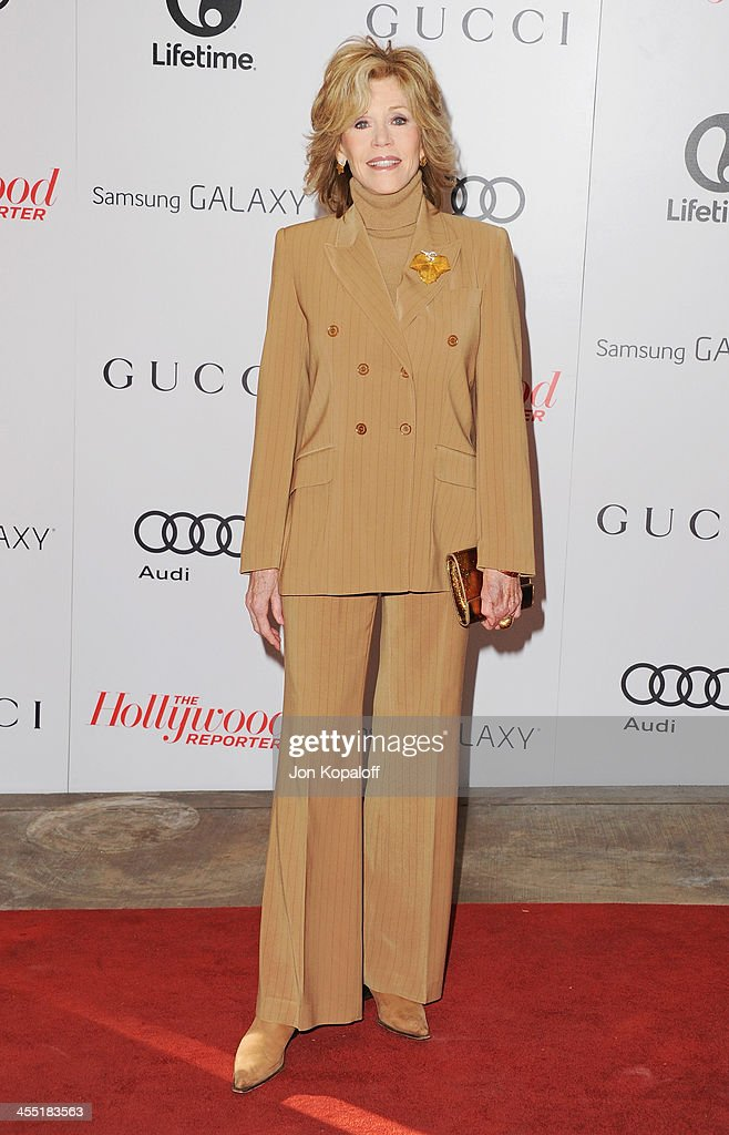 Actress Jane Fonda arrives at The Hollywood Reporter's 22nd Annual Women In Entertainment Breakfast 2013 at Beverly Hills Hotel on December 11, 2013 in Beverly Hills, California.