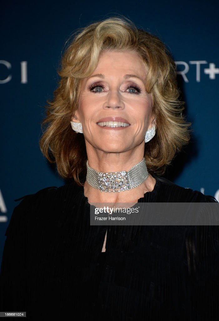 Actress <a gi-track='captionPersonalityLinkClicked' href=/galleries/search?phrase=Jane+Fonda&family=editorial&specificpeople=202174 ng-click='$event.stopPropagation()'>Jane Fonda</a> arrives at the LACMA 2013 Art + Film Gala on November 2, 2013 in Los Angeles, California.