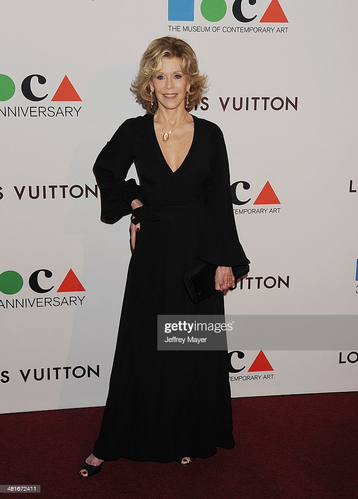 Actress <a gi-track='captionPersonalityLinkClicked' href=/galleries/search?phrase=Jane+Fonda&family=editorial&specificpeople=202174 ng-click='$event.stopPropagation()'>Jane Fonda</a> arrives at the MOCA 35th Anniversary Gala Celebration at The Geffen Contemporary at MOCA on March 29, 2014 in Los Angeles, California.