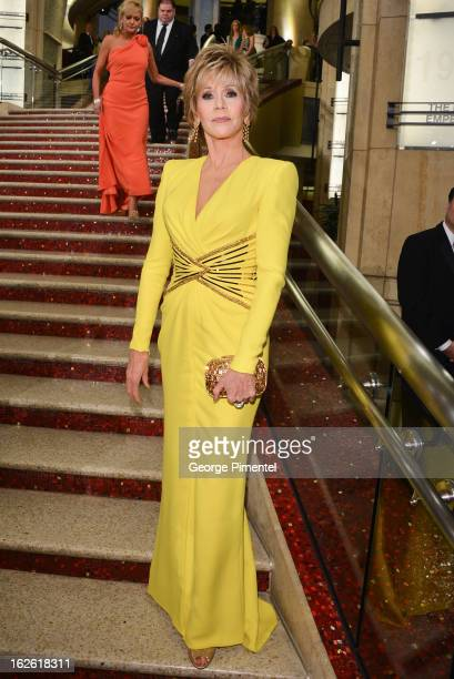 Actress Jane Fonda arrives at the Oscars at Hollywood Highland Center on February 24 2013 in Hollywood California at Hollywood Highland Center on...