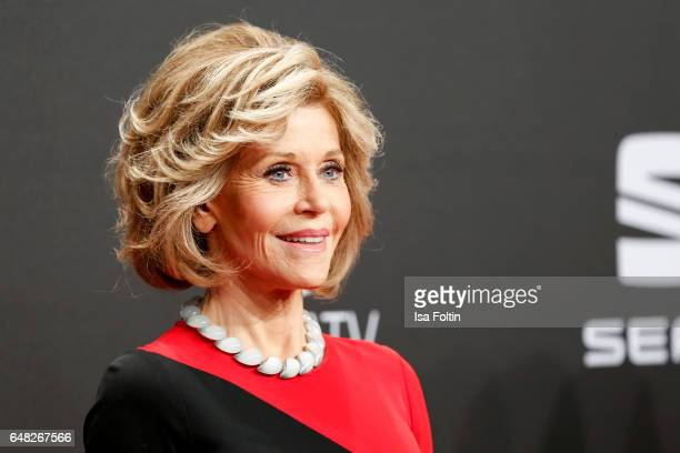 US actress Jane Fonda arrives for the Goldene Kamera on March 4 2017 in Hamburg Germany