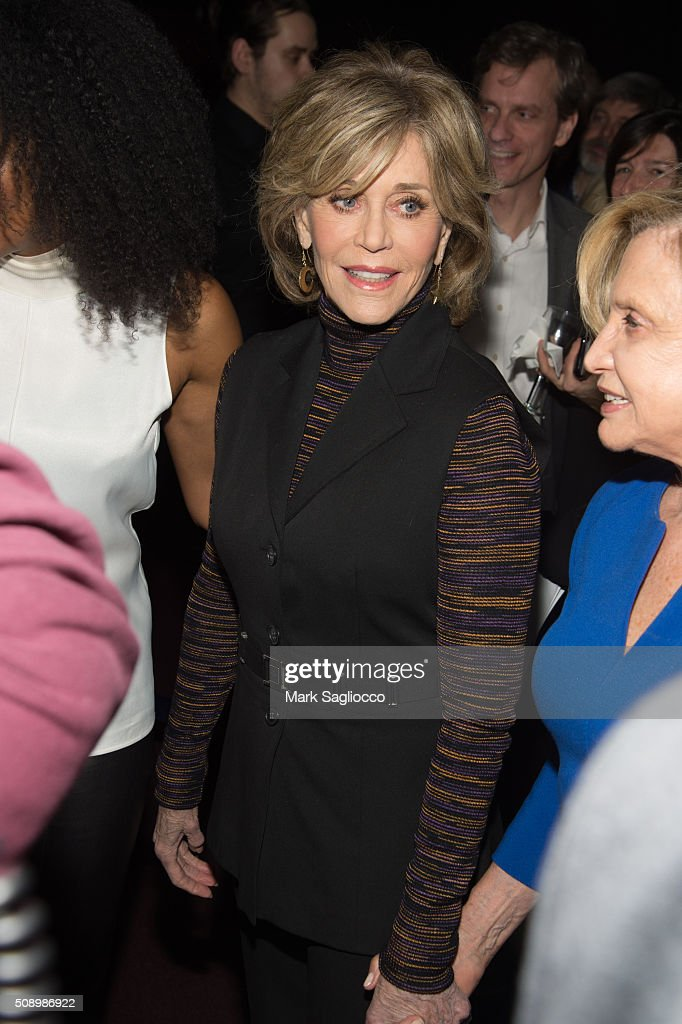 Actress <a gi-track='captionPersonalityLinkClicked' href=/galleries/search?phrase=Jane+Fonda&family=editorial&specificpeople=202174 ng-click='$event.stopPropagation()'>Jane Fonda</a> attends 'A Night of Comedy with <a gi-track='captionPersonalityLinkClicked' href=/galleries/search?phrase=Jane+Fonda&family=editorial&specificpeople=202174 ng-click='$event.stopPropagation()'>Jane Fonda</a>' on February 7, 2016 in New York City.