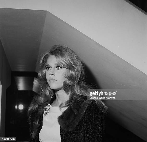 Actress Jane Fonda attends a party in Los Angeles California