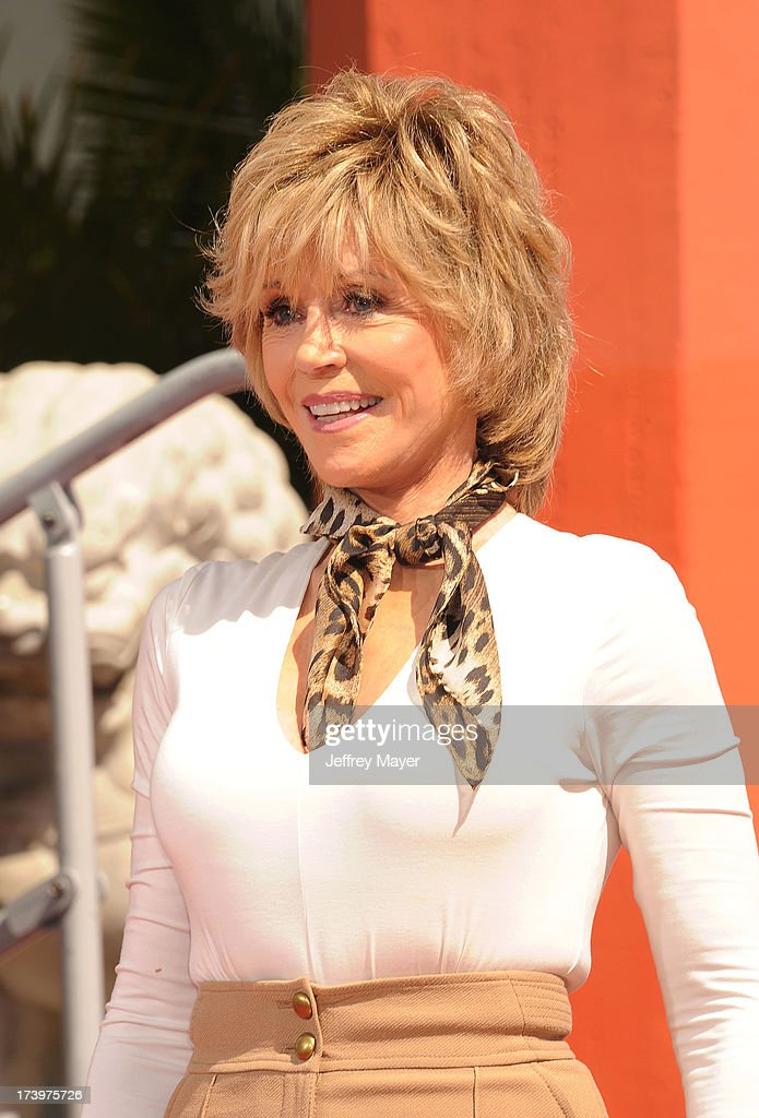 Actress <a gi-track='captionPersonalityLinkClicked' href=/galleries/search?phrase=Jane+Fonda&family=editorial&specificpeople=202174 ng-click='$event.stopPropagation()'>Jane Fonda</a> attends actress <a gi-track='captionPersonalityLinkClicked' href=/galleries/search?phrase=Jane+Fonda&family=editorial&specificpeople=202174 ng-click='$event.stopPropagation()'>Jane Fonda</a>'s Handprint/Footprint Ceremony during the 2013 TCM Classic Film Festival at TCL Chinese Theatre on April 27, 2013 in Los Angeles, California.