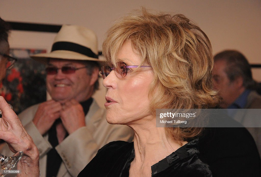 Actress Jane Fonda attends an exhibition of photographer Pattie Boyd's photographs entitled 'Pattie Boyd: Newly Discovered' at Morrison Hotel Gallery on June 28, 2013 in West Hollywood, California.