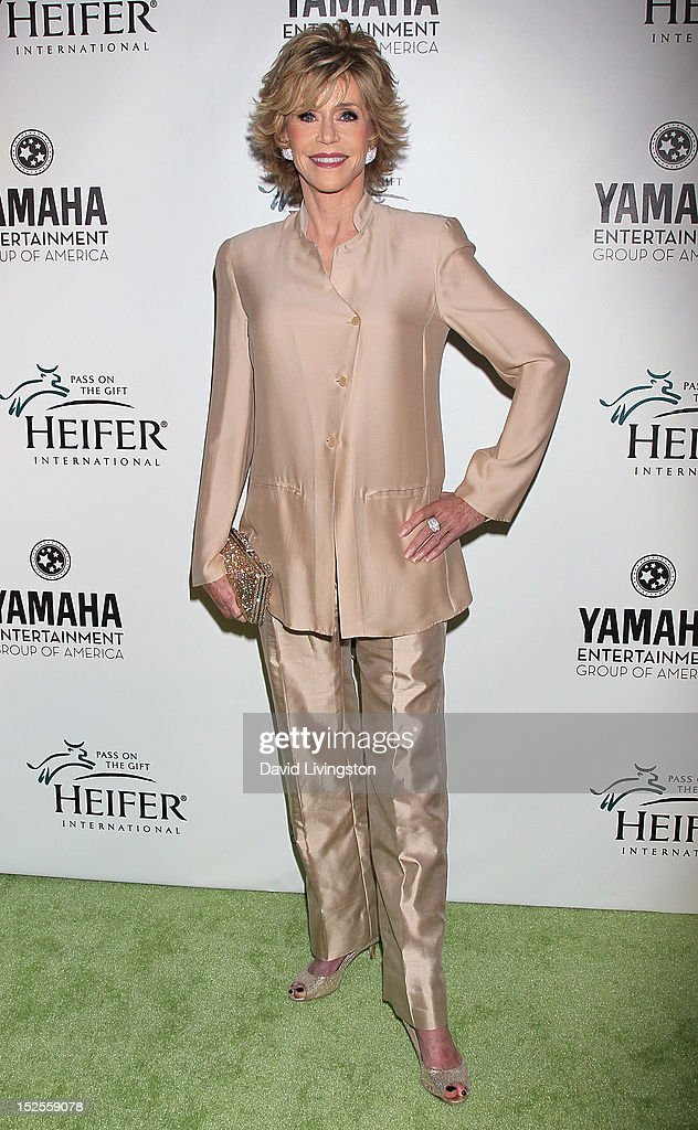 Actress Jane Fonda attends 'Beyond Hunger A Place at the Table' charity event at Montage Beverly Hills on September 21 2012 in Beverly Hills...