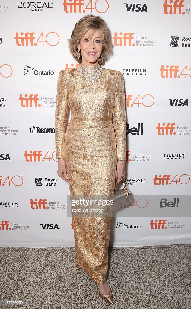 Actress <a gi-track='captionPersonalityLinkClicked' href=/galleries/search?phrase=Jane+Fonda&family=editorial&specificpeople=202174 ng-click='$event.stopPropagation()'>Jane Fonda</a> attends Fox Searchlight's 'Youth' Toronto International Film Festival special presentation on September 12, 2015 in Toronto, Canada.