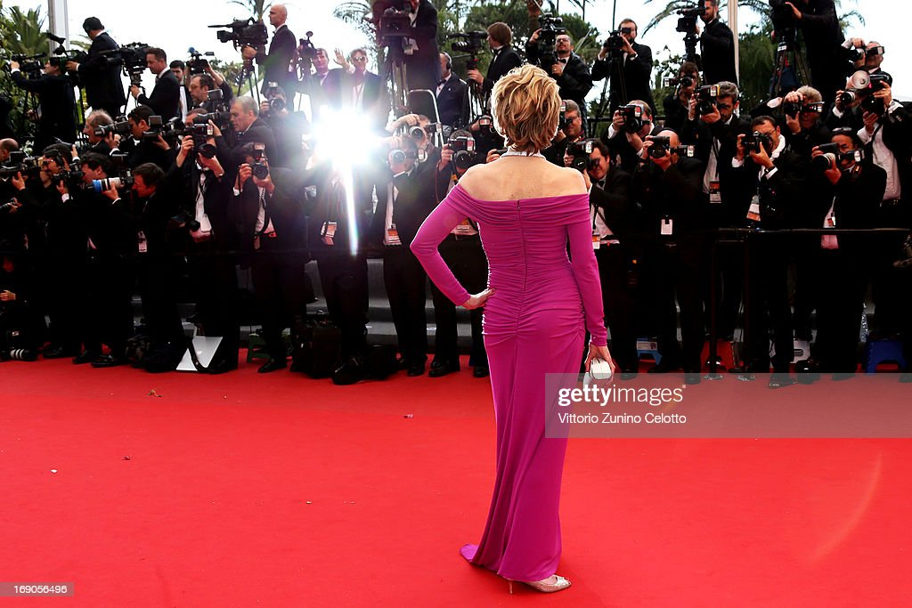 Actress Jane Fonda attends 'Inside Llewyn Davis' Premiere during the 66th Annual Cannes Film Festival at Palais des Festivals on May 19, 2013 in Cannes, France.