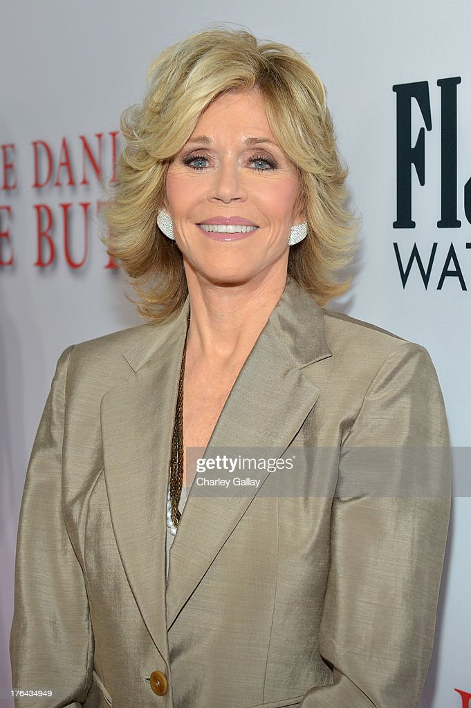 Actress Jane Fonda attends LEE DANIELS' THE BUTLER Los Angeles premiere, hosted by TWC, Budweiser and FIJI Water, Purity Vodka and Stack Wines, held at Regal Cinemas L.A. Live on August 12, 2013 in Los Angeles, California.