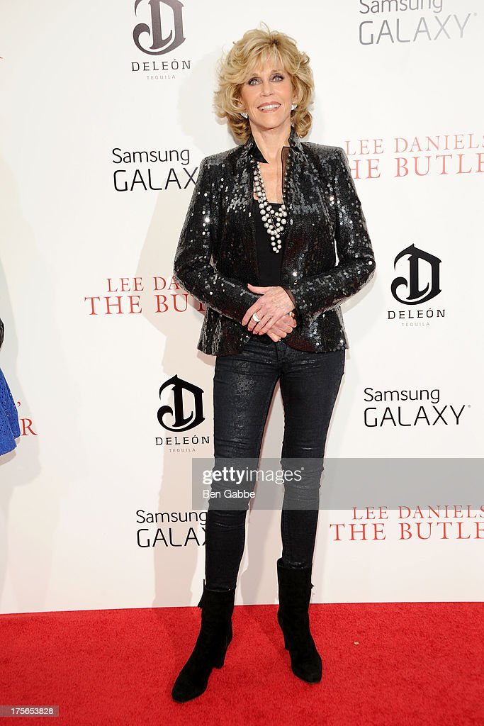 Actress <a gi-track='captionPersonalityLinkClicked' href=/galleries/search?phrase=Jane+Fonda&family=editorial&specificpeople=202174 ng-click='$event.stopPropagation()'>Jane Fonda</a> attends Lee Daniels' 'The Butler' New York Premiere at Ziegfeld Theater on August 5, 2013 in New York City.