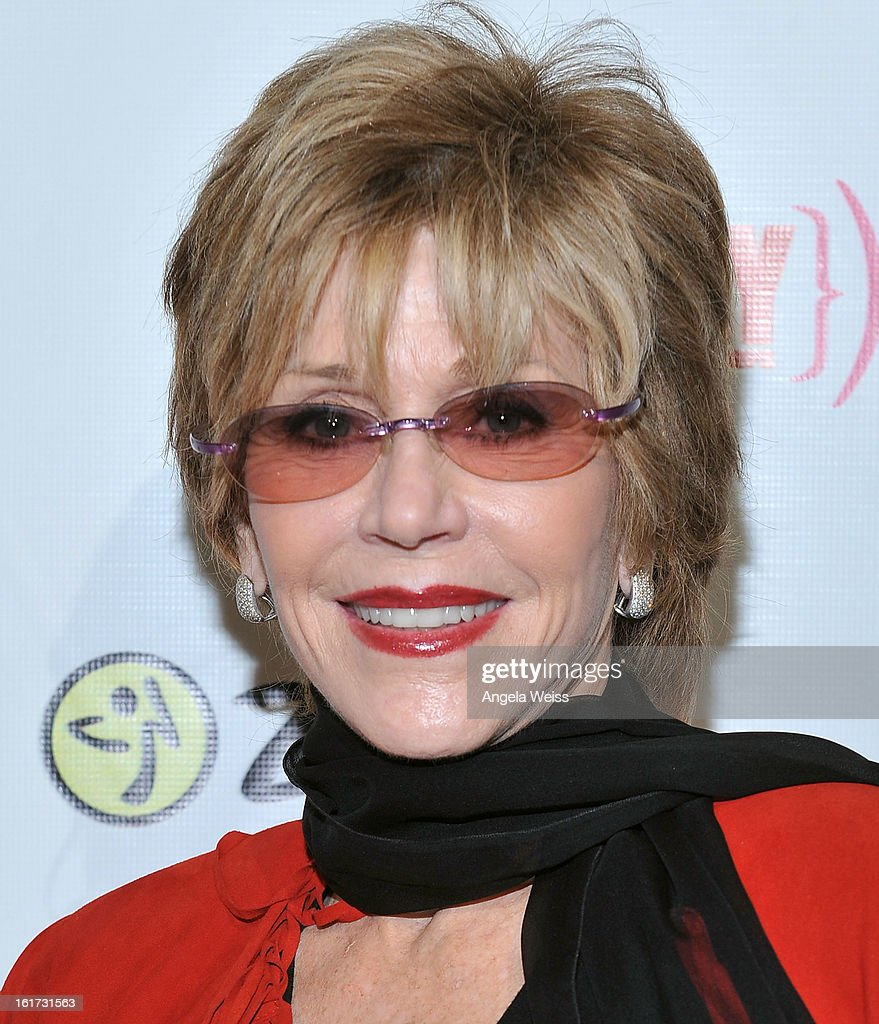 Actress Jane Fonda attends One Billion Rising-Rise with V-Day and Zumba Fitness, One Billion Rising, a Global Day of Action to End Violence against Women and celebrate V-Day's 15th Anniversary at LA Live on February 14, 2013 in Los Angeles, California.