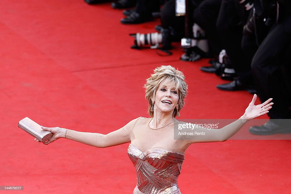 Actress <a gi-track='captionPersonalityLinkClicked' href=/galleries/search?phrase=Jane+Fonda&family=editorial&specificpeople=202174 ng-click='$event.stopPropagation()'>Jane Fonda</a> attends opening ceremony and 'Moonrise Kingdom' premiere during the 65th Annual Cannes Film Festival at Palais des Festivals on May 16, 2012 in Cannes, France.