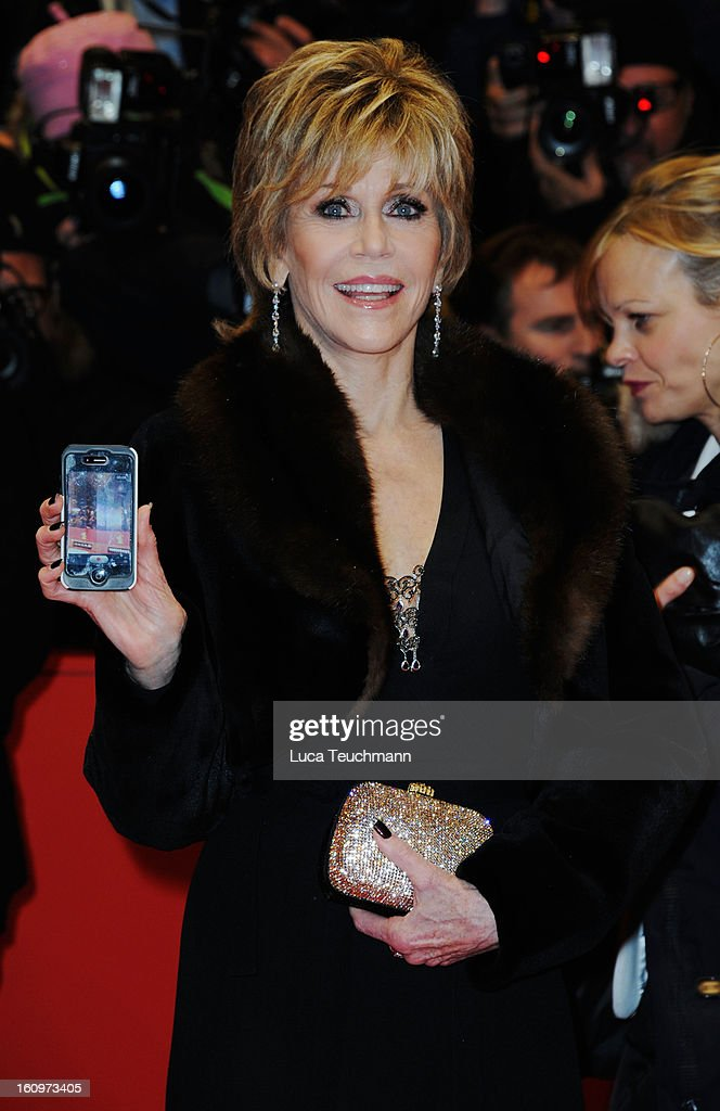Actress Jane Fonda attends 'Promised Land' Premiere during the 63rd Berlinale International Film Festival at Berlinale Palast on February 8, 2013 in Berlin, Germany.