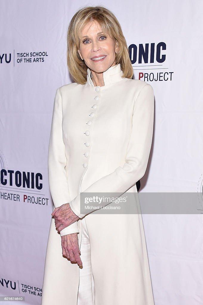 Actress Jane Fonda attends Tectonic At 25! at the NYU Skirball Center on November 7, 2016 in New York City.