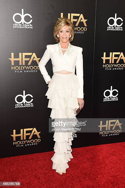 Actress Jane Fonda attends the 19th Annual Hollywood Film Awards at The Beverly Hilton Hotel on November 1 2015 in Beverly Hills California