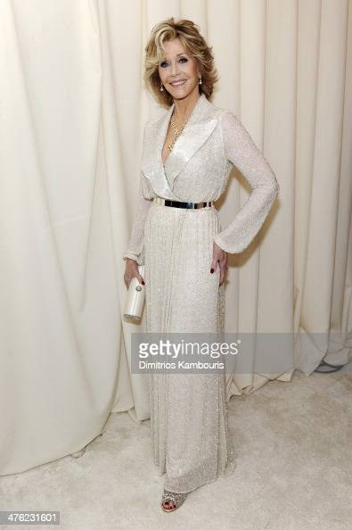 Actress Jane Fonda attends the 22nd Annual Elton John AIDS Foundation Academy Awards Viewing Party at The City of West Hollywood Park on March 2 2014...