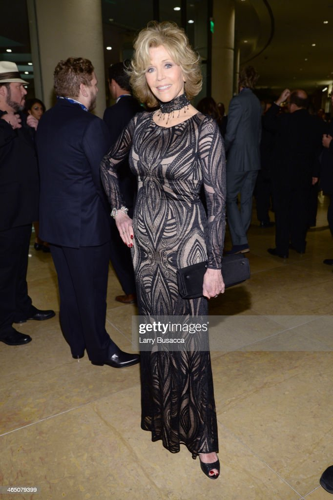 Actress <a gi-track='captionPersonalityLinkClicked' href=/galleries/search?phrase=Jane+Fonda&family=editorial&specificpeople=202174 ng-click='$event.stopPropagation()'>Jane Fonda</a> attends the 56th annual GRAMMY Awards Pre-GRAMMY Gala and Salute to Industry Icons honoring Lucian Grainge at The Beverly Hilton on January 25, 2014 in Beverly Hills, California.