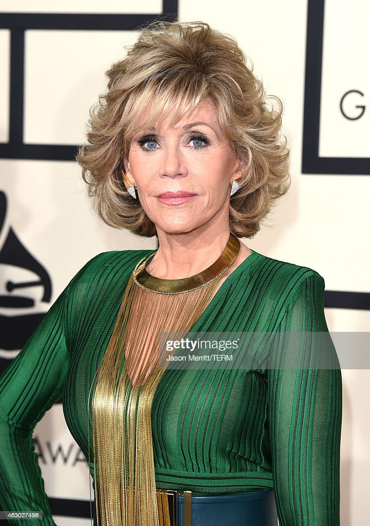 Actress Jane Fonda attends The 57th Annual GRAMMY Awards at the STAPLES Center on February 8, 2015 in Los Angeles, California.