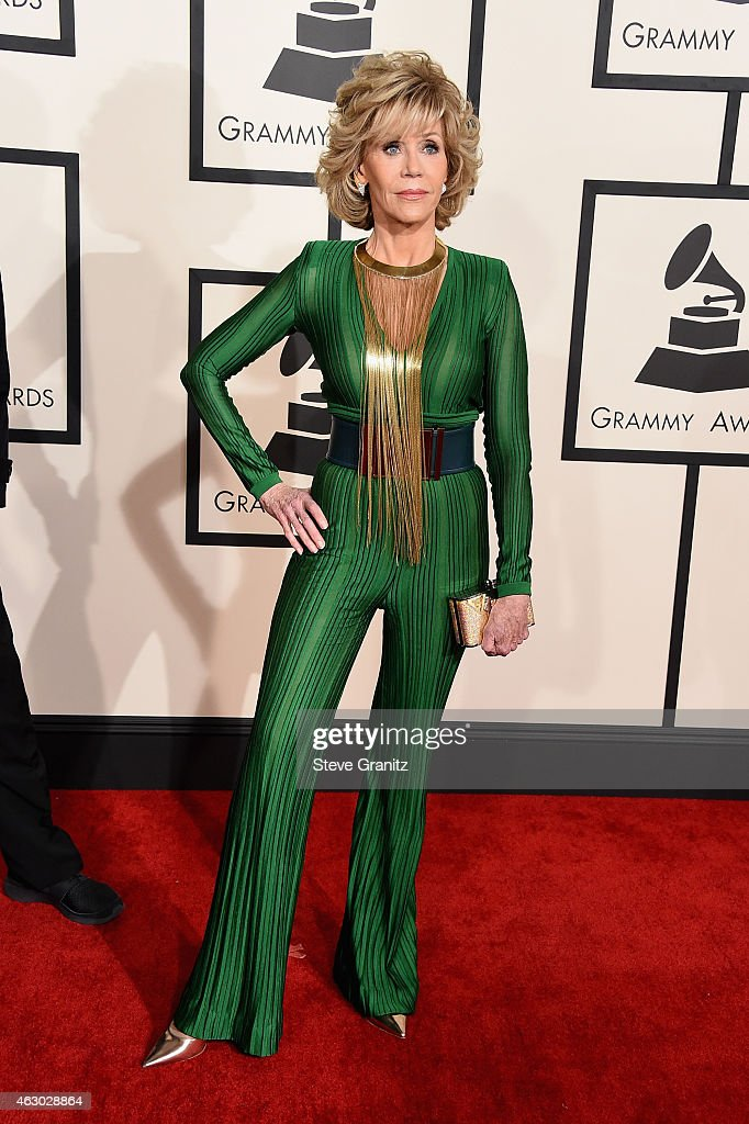 Actress <a gi-track='captionPersonalityLinkClicked' href=/galleries/search?phrase=Jane+Fonda&family=editorial&specificpeople=202174 ng-click='$event.stopPropagation()'>Jane Fonda</a> attends The 57th Annual GRAMMY Awards at the STAPLES Center on February 8, 2015 in Los Angeles, California.