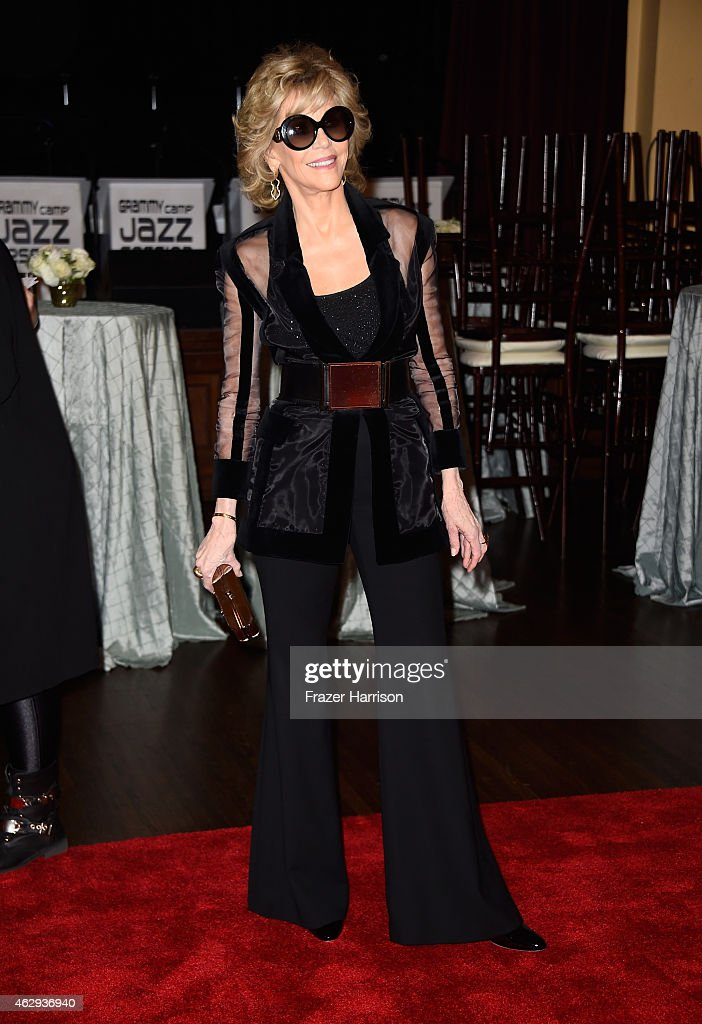 Actress Jane Fonda attends The 57th Annual GRAMMY Awards - Special Merit Awards Ceremony on February 7, 2015 in Los Angeles, California.