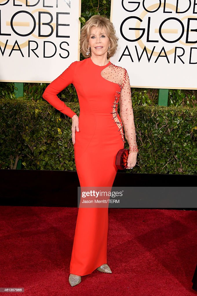 Actress <a gi-track='captionPersonalityLinkClicked' href=/galleries/search?phrase=Jane+Fonda&family=editorial&specificpeople=202174 ng-click='$event.stopPropagation()'>Jane Fonda</a> attends the 72nd Annual Golden Globe Awards at The Beverly Hilton Hotel on January 11, 2015 in Beverly Hills, California.