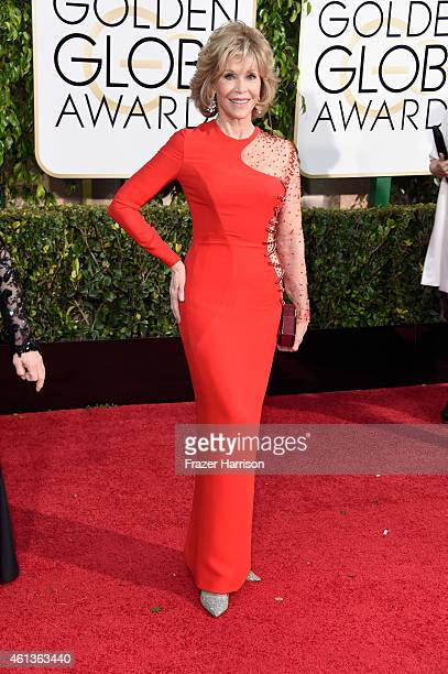 Actress Jane Fonda attends the 72nd Annual Golden Globe Awards at The Beverly Hilton Hotel on January 11 2015 in Beverly Hills California