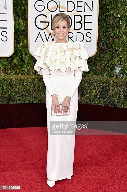 Actress Jane Fonda attends the 73rd Annual Golden Globe Awards held at the Beverly Hilton Hotel on January 10 2016 in Beverly Hills California