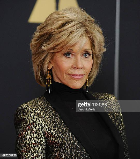 Actress Jane Fonda attends the 7th annual Governors Awards at The Ray Dolby Ballroom at Hollywood Highland Center on November 14 2015 in Hollywood...
