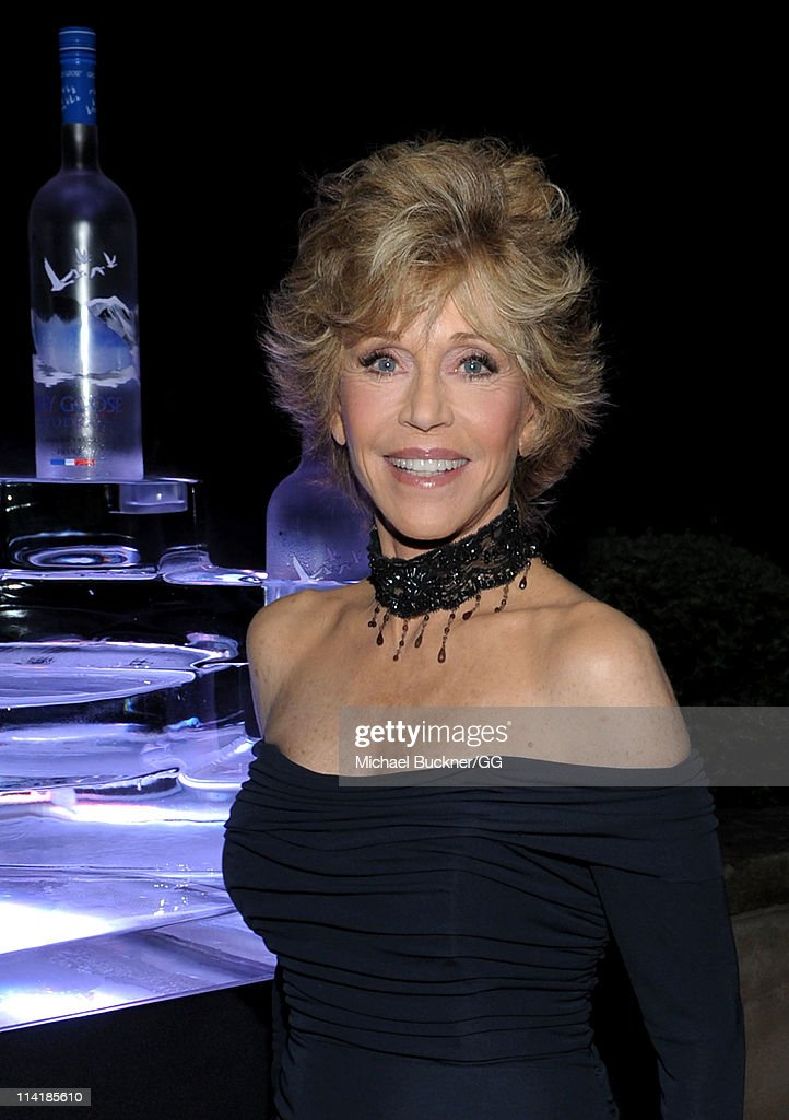 Actress <a gi-track='captionPersonalityLinkClicked' href=/galleries/search?phrase=Jane+Fonda&family=editorial&specificpeople=202174 ng-click='$event.stopPropagation()'>Jane Fonda</a> attends the CAA Party with Grey Goose at Soho House Cannes in celebration of the 64th Annual Cannes Film Festival at Villa Eilenroc on May 14, 2011 in Cannes, France.