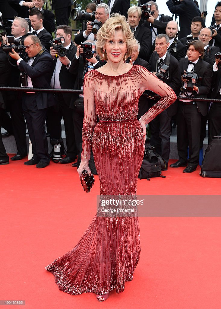 Actress <a gi-track='captionPersonalityLinkClicked' href=/galleries/search?phrase=Jane+Fonda&family=editorial&specificpeople=202174 ng-click='$event.stopPropagation()'>Jane Fonda</a> attends the opening ceremony and 'Grace of Monaco' premiere at the 67th Annual Cannes Film Festival on May 14, 2014 in Cannes, France.