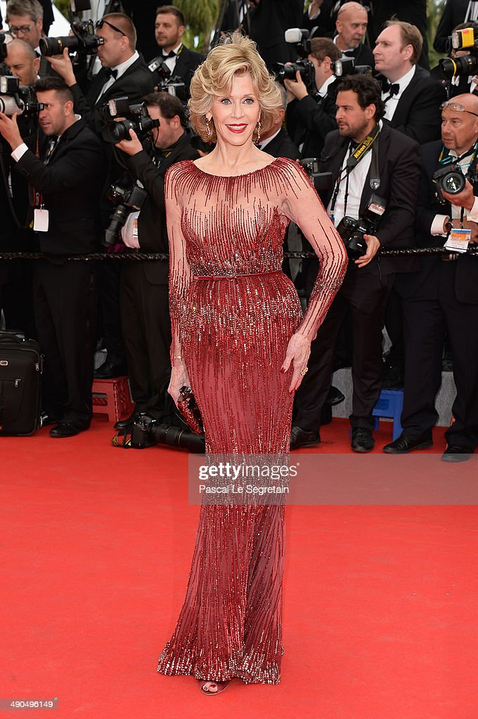 Actress <a gi-track='captionPersonalityLinkClicked' href=/galleries/search?phrase=Jane+Fonda&family=editorial&specificpeople=202174 ng-click='$event.stopPropagation()'>Jane Fonda</a> attends the Opening ceremony and the 'Grace of Monaco' Premiere during the 67th Annual Cannes Film Festival on May 14, 2014 in Cannes, France.