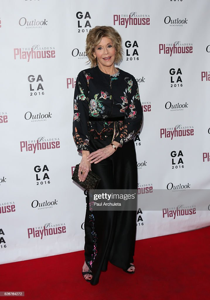 Actress Jane Fonda attends the Pasadena Playhouse Gala at The Pasadena Playhouse on April 30, 2016 in Pasadena, California.