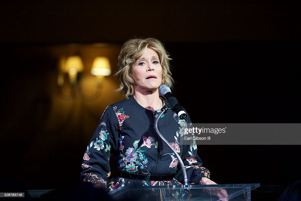 Actress Jane Fonda attends The Pasadena Playhouse Gala Honoring Jane Fonda and Richard Perry at Pasadena Playhouse on April 30, 2016 in Pasadena, California.