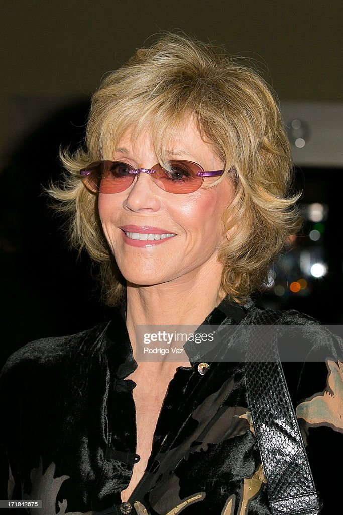 Actress <a gi-track='captionPersonalityLinkClicked' href=/galleries/search?phrase=Jane+Fonda&family=editorial&specificpeople=202174 ng-click='$event.stopPropagation()'>Jane Fonda</a> attends the Pattie Boyd: Newly Discovered Photo Exhibition at Morrison Hotel Gallery on June 28, 2013 in West Hollywood, California.