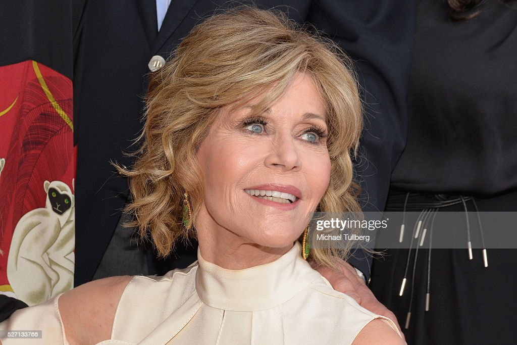 Actress Jane Fonda attends the premiere of Season 2 of the Netflix Original Series 'Grace & Frankie' at Harmony Gold on May 1, 2016 in Los Angeles, California.