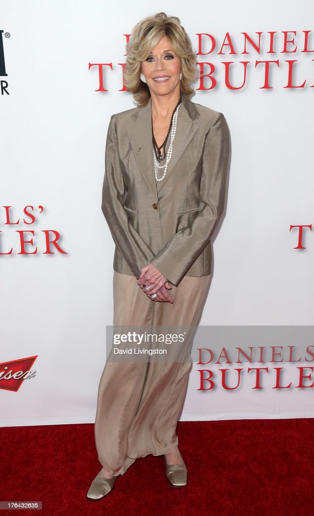 Actress <a gi-track='captionPersonalityLinkClicked' href=/galleries/search?phrase=Jane+Fonda&family=editorial&specificpeople=202174 ng-click='$event.stopPropagation()'>Jane Fonda</a> attends the premiere of the Weinstein Company's 'Lee Daniels' The Butler' at Regal Cinemas L.A. Live on August 12, 2013 in Los Angeles, California.