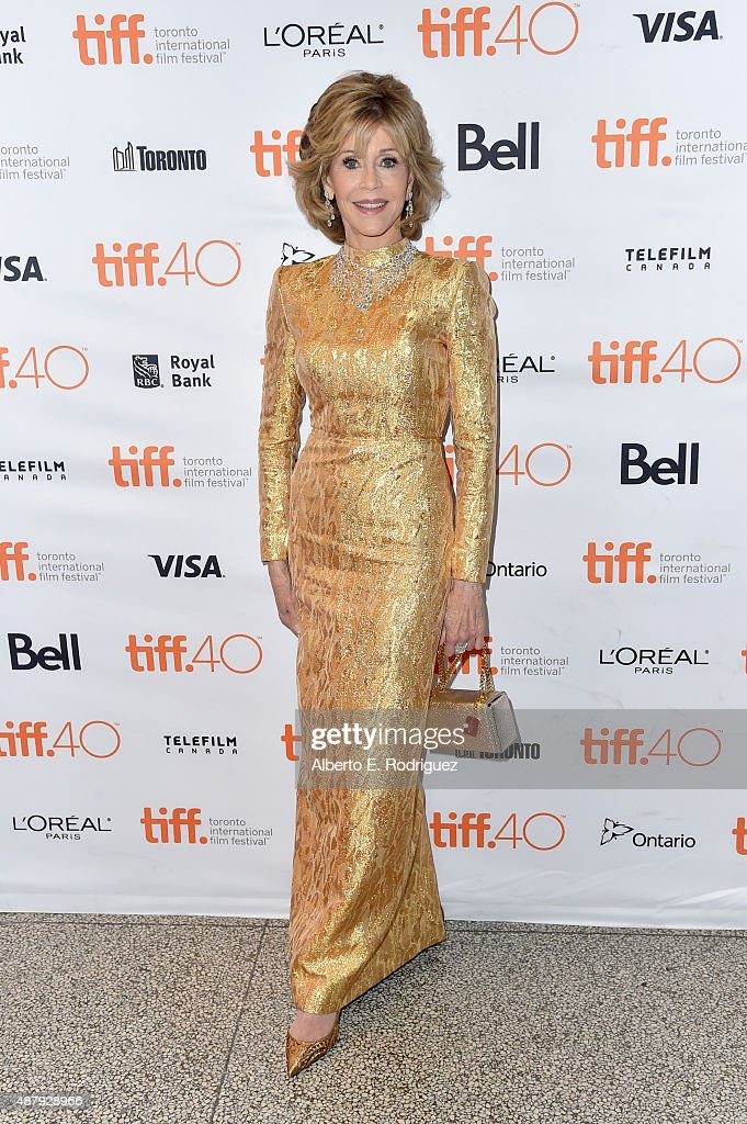 Actress <a gi-track='captionPersonalityLinkClicked' href=/galleries/search?phrase=Jane+Fonda&family=editorial&specificpeople=202174 ng-click='$event.stopPropagation()'>Jane Fonda</a> attends the 'Youth' premiere during the 2015 Toronto International Film Festival at The Elgin on September 12, 2015 in Toronto, Canada.