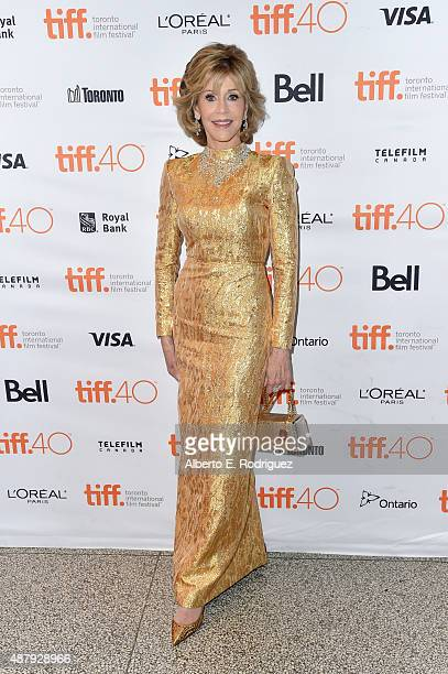 Actress Jane Fonda attends the 'Youth' premiere during the 2015 Toronto International Film Festival at The Elgin on September 12 2015 in Toronto...
