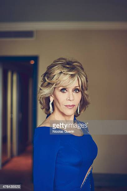 Actress Jane Fonda is photographed for Self Assignment on May 15 2015 in Cannes France