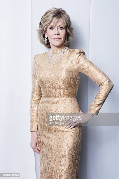 Actress Jane Fonda of 'Youth' poses for a portrait at the 2015 Toronto Film Festival at the TIFF Bell Lightbox on September 15 2015 in Toronto Ontario